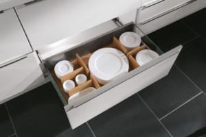 Schubladeneinsatz zur individuellen Einteilung aus Holz